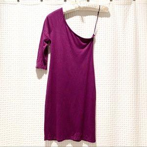 TOPSHOP One Shoulder / Sleeve Dress.